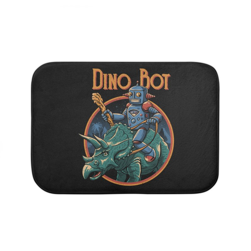 Dino Bot 2 Home Bath Mat by vincenttrinidad's Artist Shop