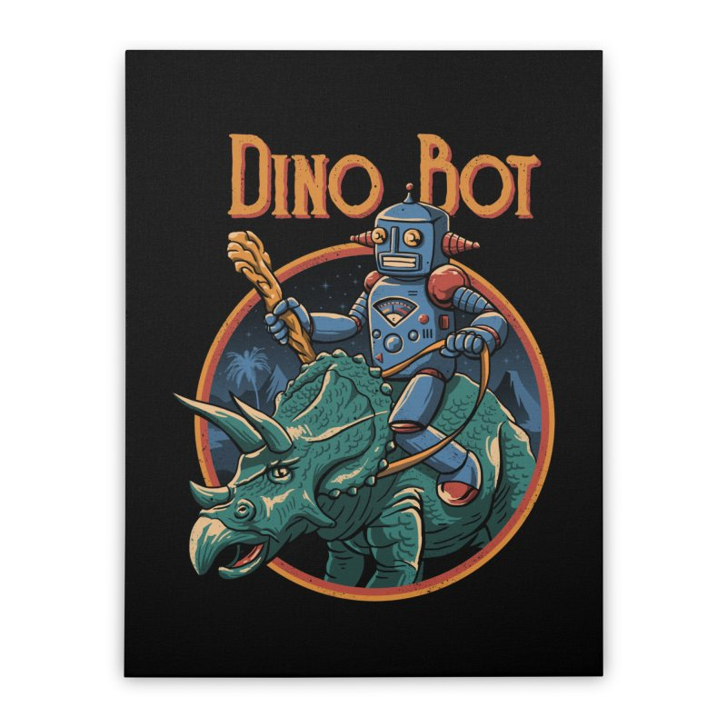 Dino Bot 2 Home Stretched Canvas by vincenttrinidad's Artist Shop