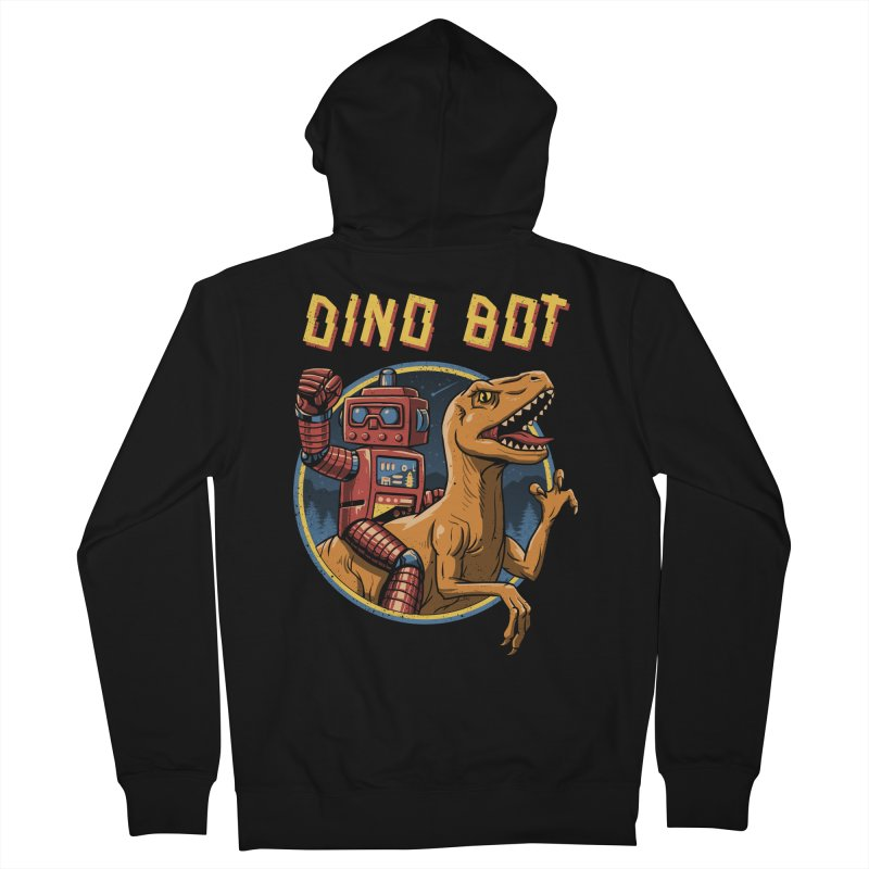 Dino Bot Men's Zip-Up Hoody by vincenttrinidad's Artist Shop