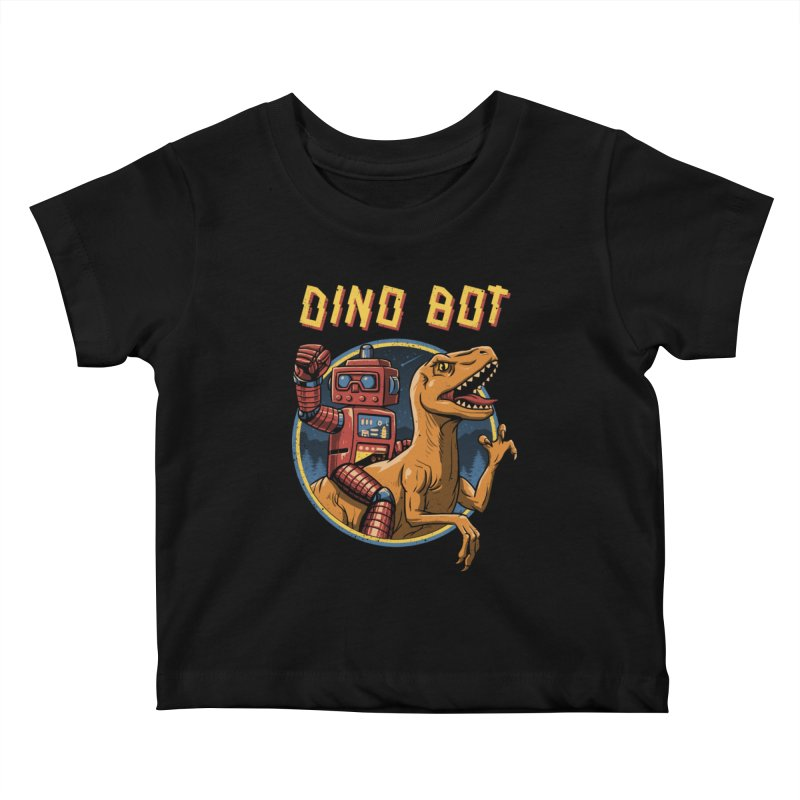 Dino Bot Kids Baby T-Shirt by vincenttrinidad's Artist Shop