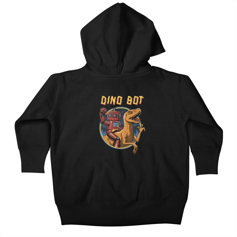 Dino Bot Kids Baby Zip-Up Hoody by vincenttrinidad's Artist Shop