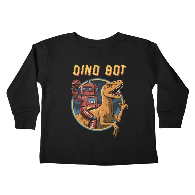 Dino Bot Kids Toddler Longsleeve T-Shirt by vincenttrinidad's Artist Shop