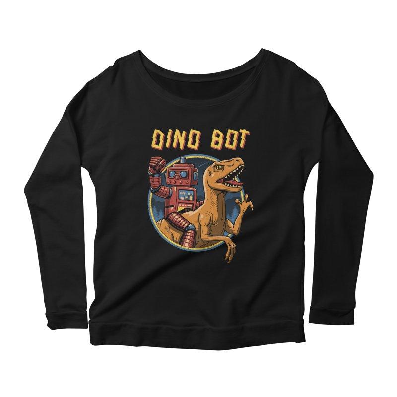 Dino Bot Women's Longsleeve Scoopneck  by vincenttrinidad's Artist Shop