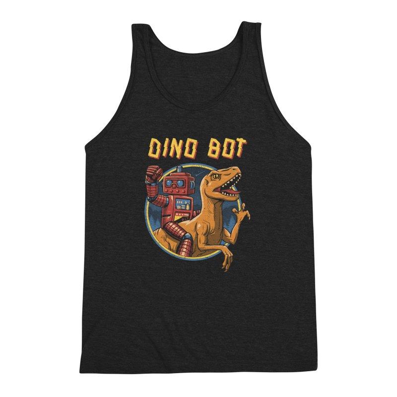 Dino Bot Men's Triblend Tank by vincenttrinidad's Artist Shop