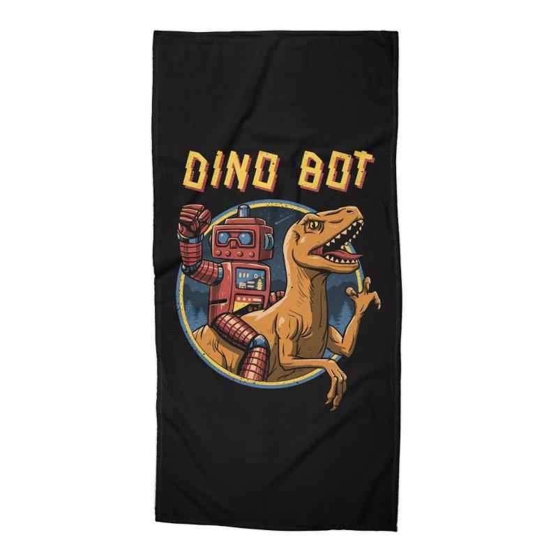 Dino Bot Accessories Beach Towel by vincenttrinidad's Artist Shop
