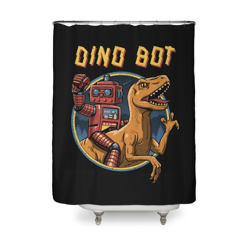 Dino Bot Home Shower Curtain by vincenttrinidad's Artist Shop