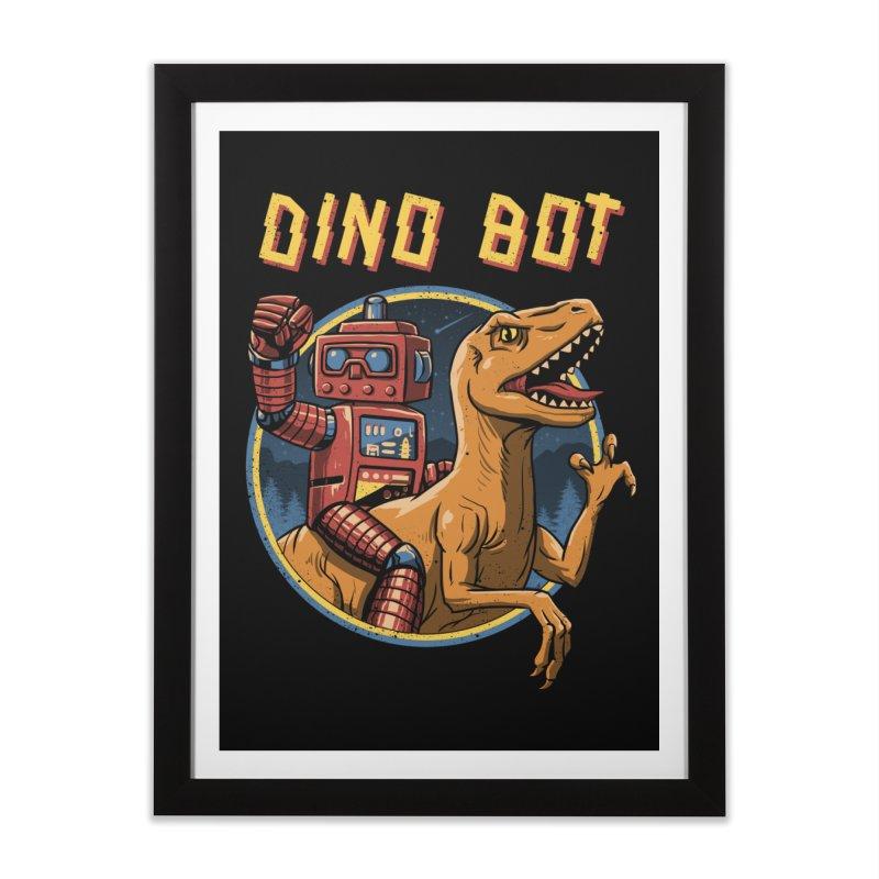 Dino Bot Home Framed Fine Art Print by vincenttrinidad's Artist Shop