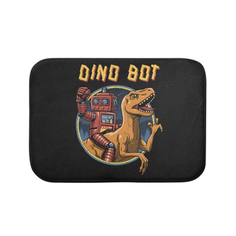 Dino Bot Home Bath Mat by vincenttrinidad's Artist Shop