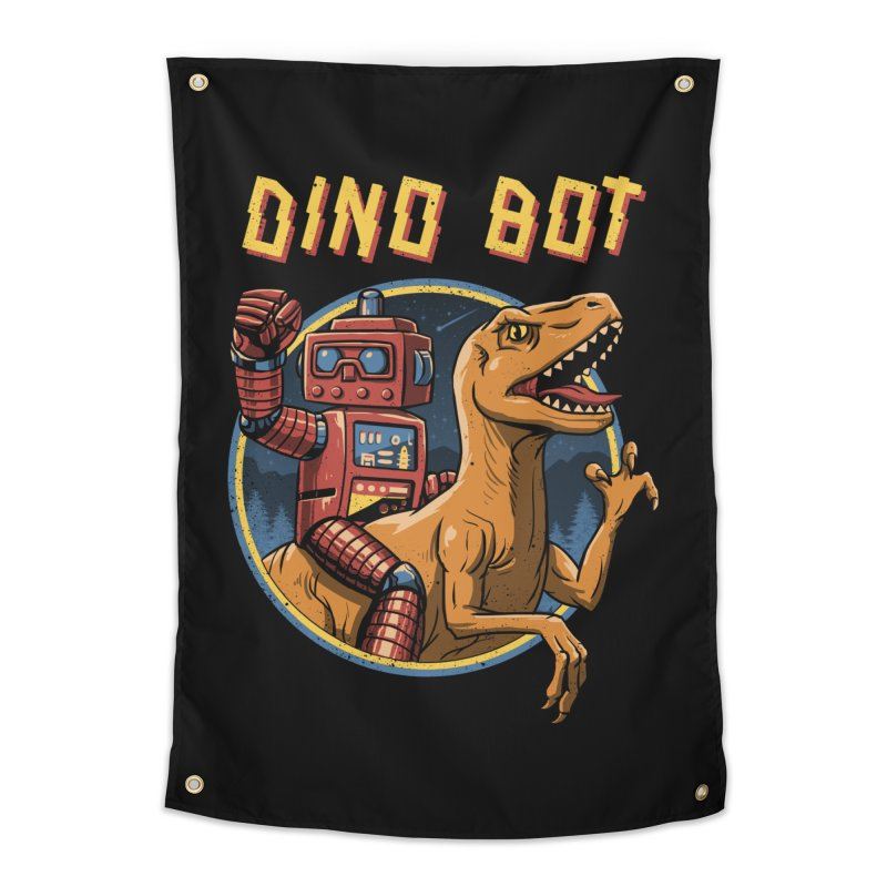Dino Bot Home Tapestry by vincenttrinidad's Artist Shop