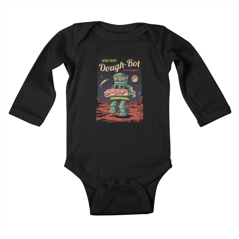 Dough Bot Kids Baby Longsleeve Bodysuit by vincenttrinidad's Artist Shop