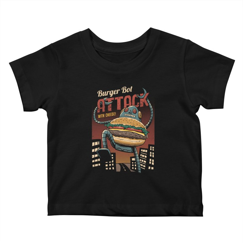 Burger Bot Kids Baby T-Shirt by vincenttrinidad's Artist Shop