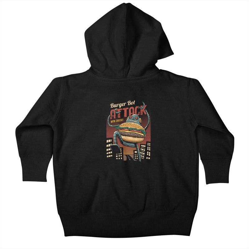 Burger Bot Kids Baby Zip-Up Hoody by vincenttrinidad's Artist Shop