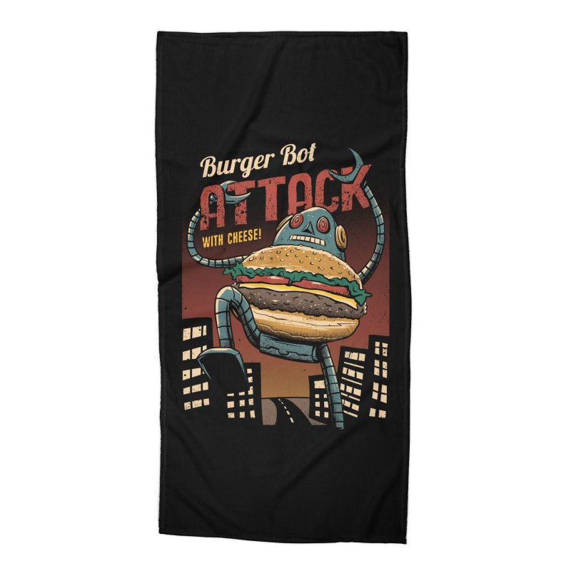Burger Bot Accessories Beach Towel by vincenttrinidad's Artist Shop