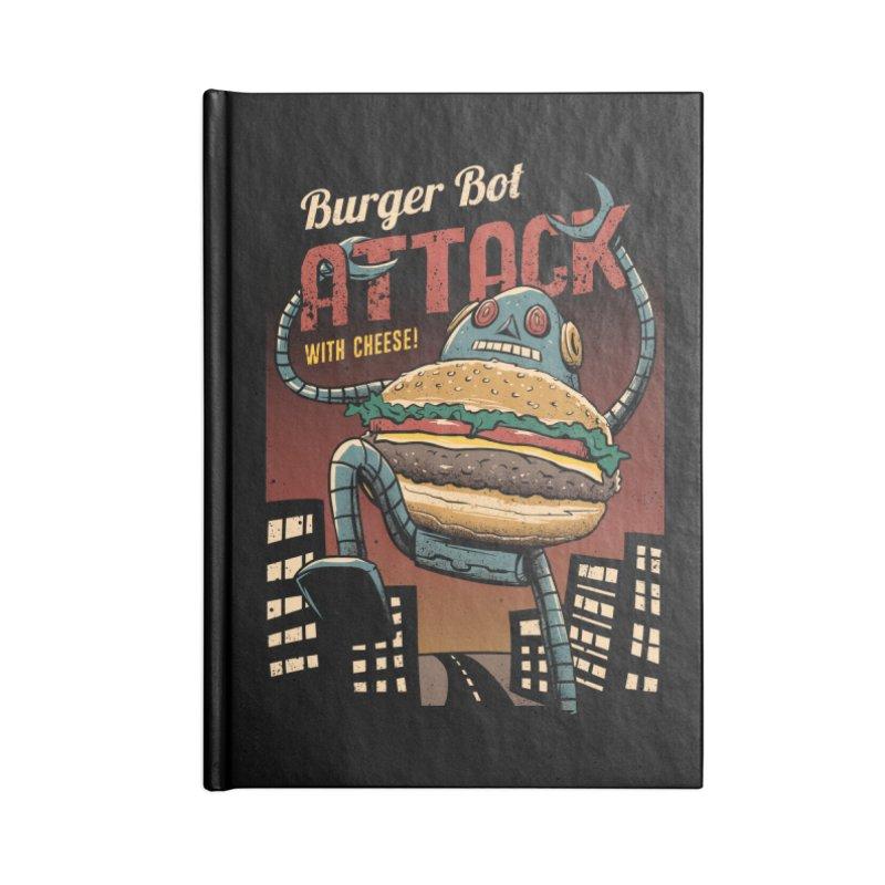 Burger Bot Accessories Notebook by vincenttrinidad's Artist Shop
