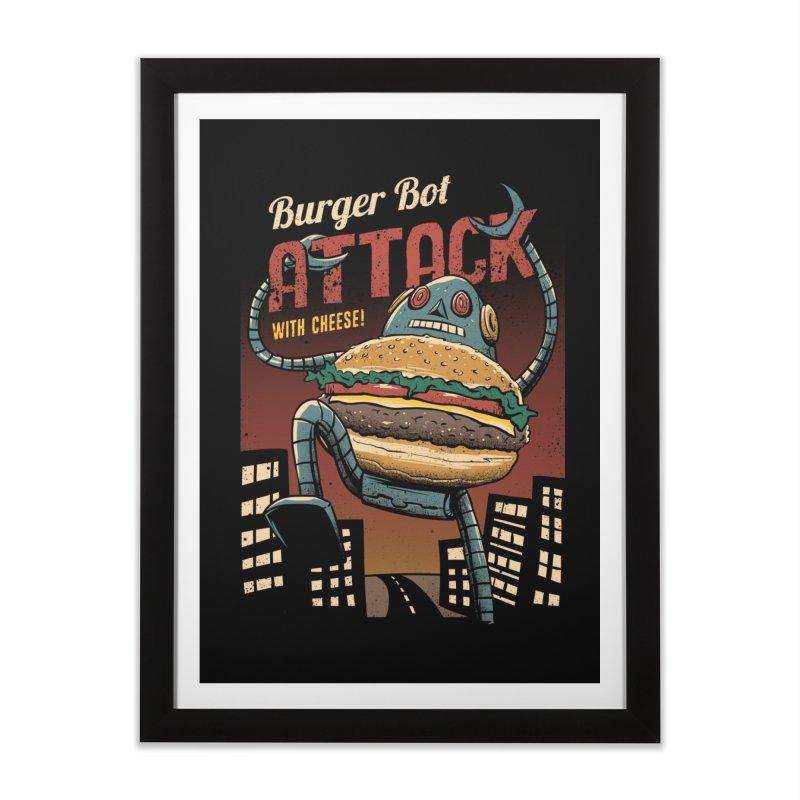 Burger Bot Home Framed Fine Art Print by vincenttrinidad's Artist Shop