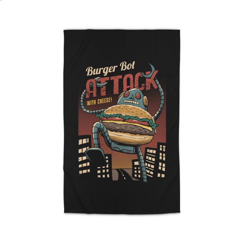 Burger Bot Home Rug by vincenttrinidad's Artist Shop