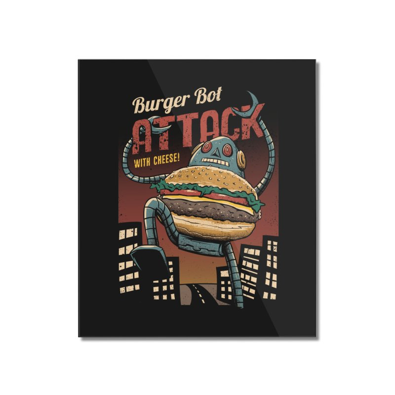 Burger Bot Home Mounted Acrylic Print by vincenttrinidad's Artist Shop