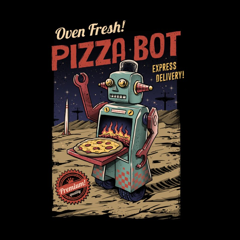 Pizza Bot by Vincent Trinidad Art