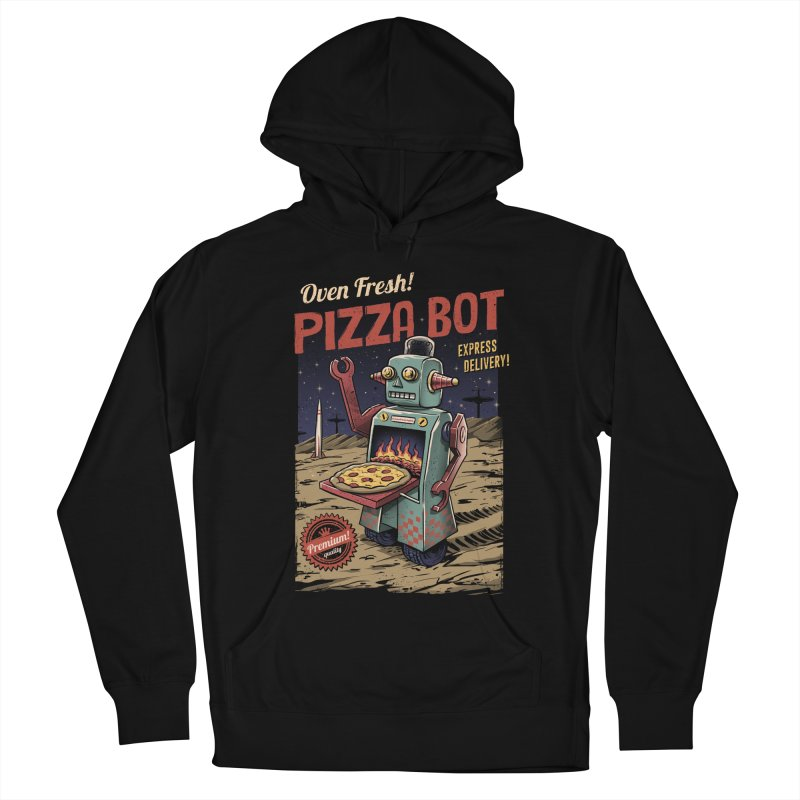 Pizza Bot Women's Pullover Hoody by vincenttrinidad's Artist Shop