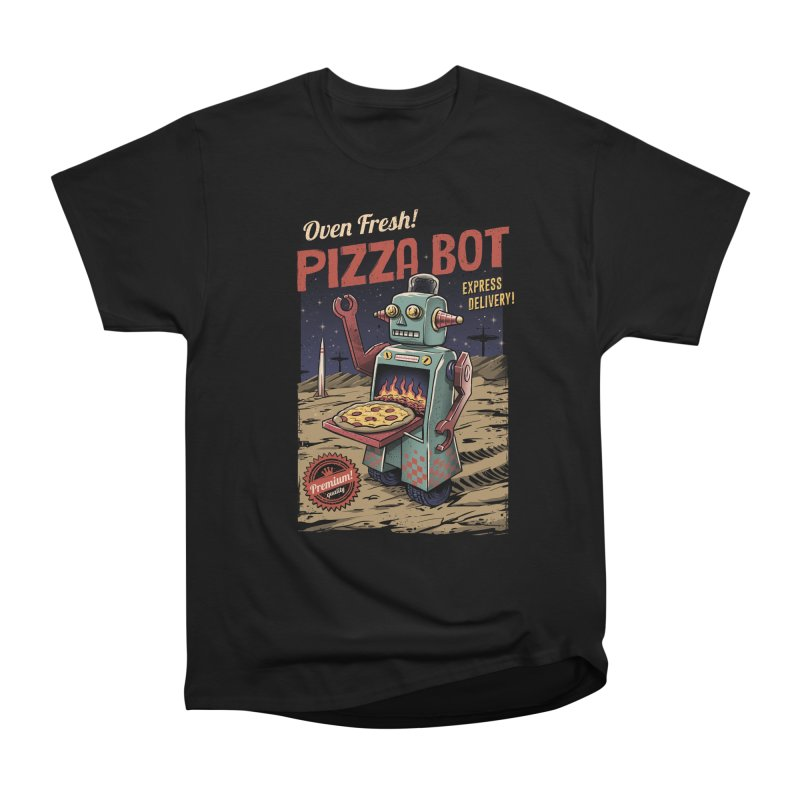 Pizza Bot Men's Classic T-Shirt by vincenttrinidad's Artist Shop