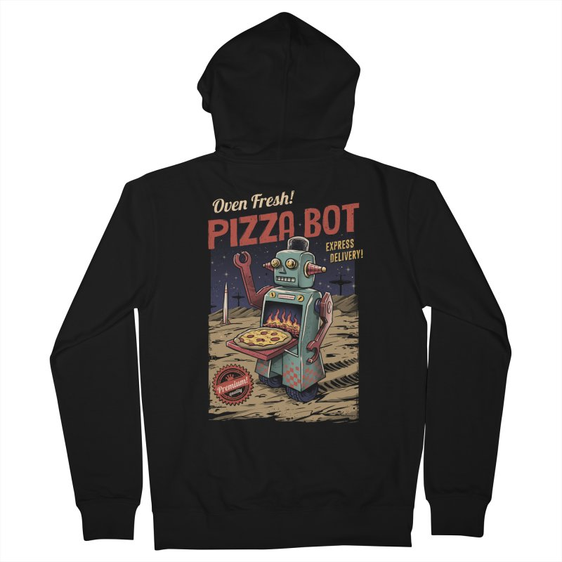 Pizza Bot Men's Zip-Up Hoody by vincenttrinidad's Artist Shop