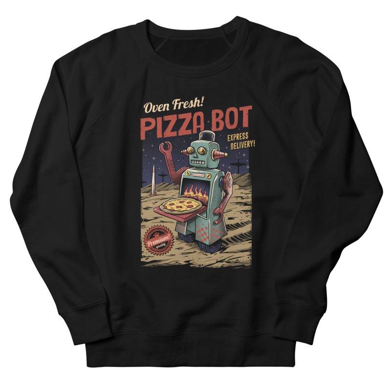 Pizza Bot Women's Sweatshirt by vincenttrinidad's Artist Shop