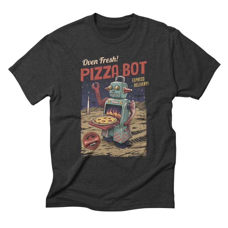 Pizza Bot Men's Triblend T-Shirt by vincenttrinidad's Artist Shop