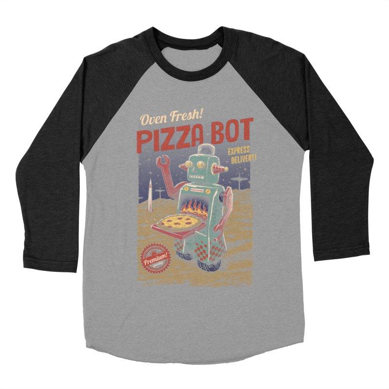 Pizza Bot Men's Baseball Triblend T-Shirt by vincenttrinidad's Artist Shop