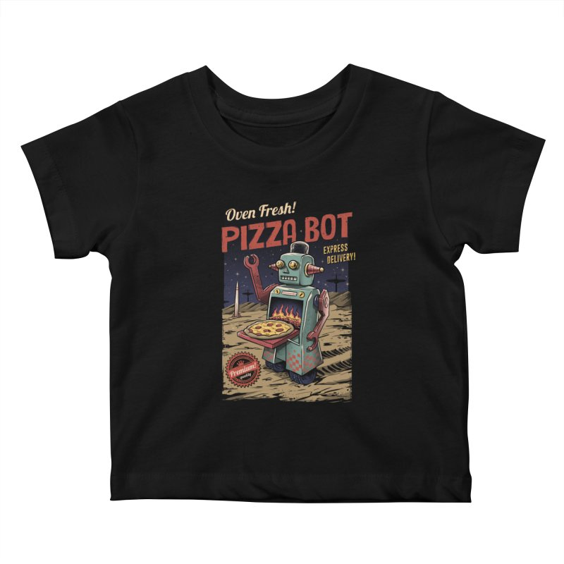 Pizza Bot Kids Baby T-Shirt by vincenttrinidad's Artist Shop