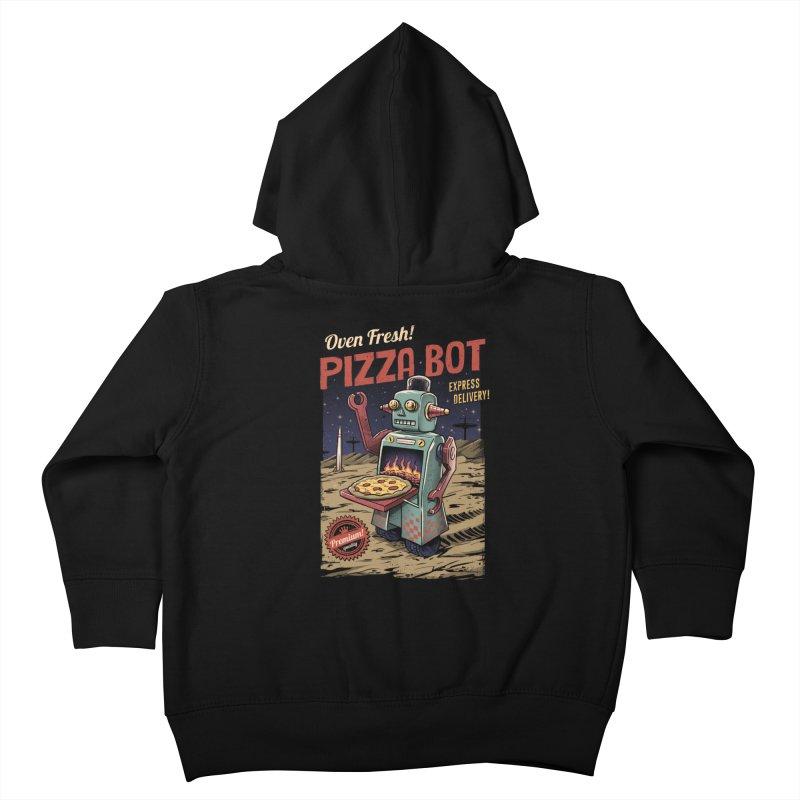 Pizza Bot Kids Toddler Zip-Up Hoody by vincenttrinidad's Artist Shop