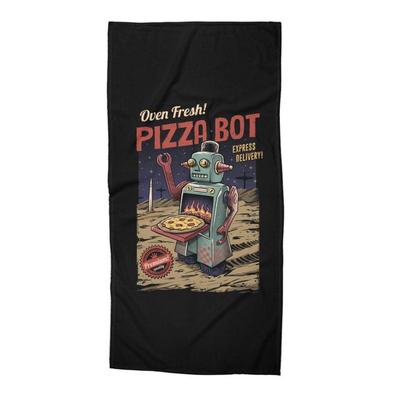 Pizza Bot Accessories Beach Towel by vincenttrinidad's Artist Shop