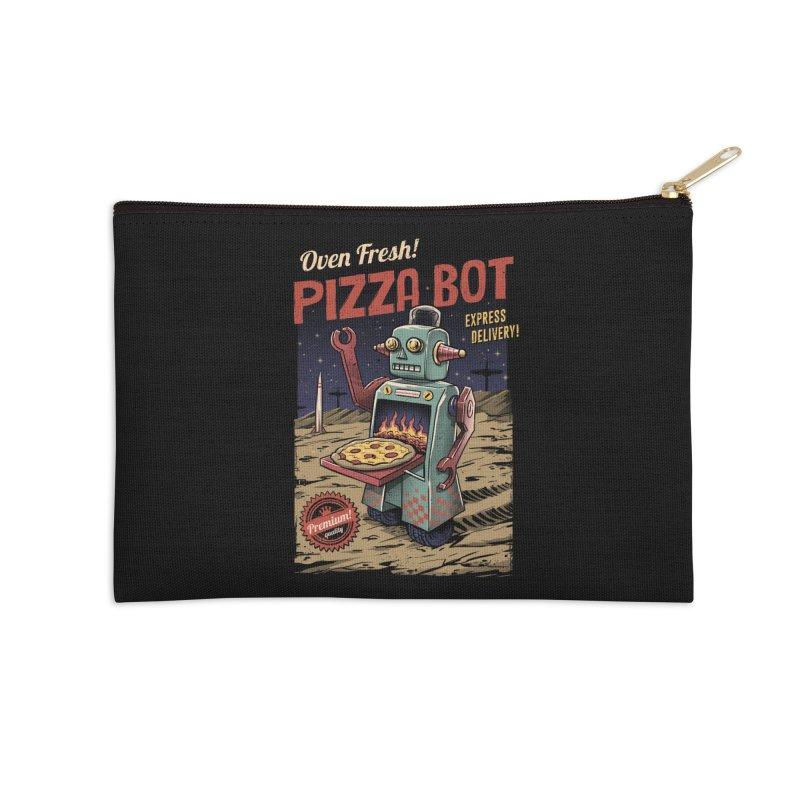Pizza Bot Accessories Zip Pouch by vincenttrinidad's Artist Shop