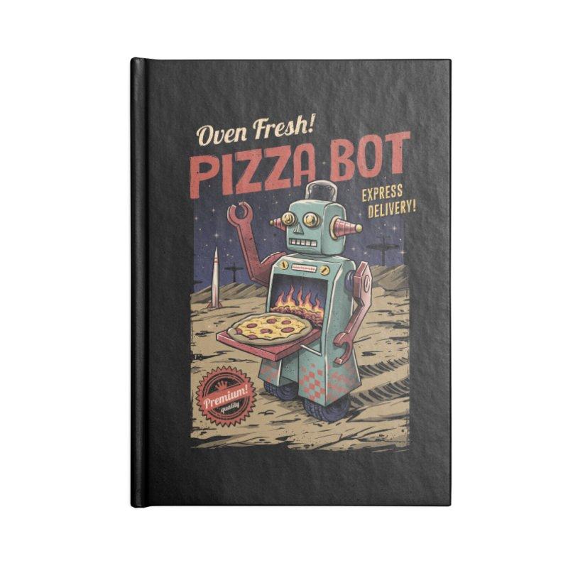 Pizza Bot Accessories Notebook by vincenttrinidad's Artist Shop