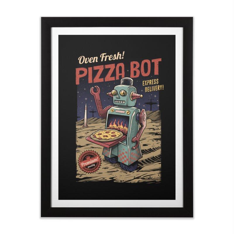 Pizza Bot Home Framed Fine Art Print by vincenttrinidad's Artist Shop