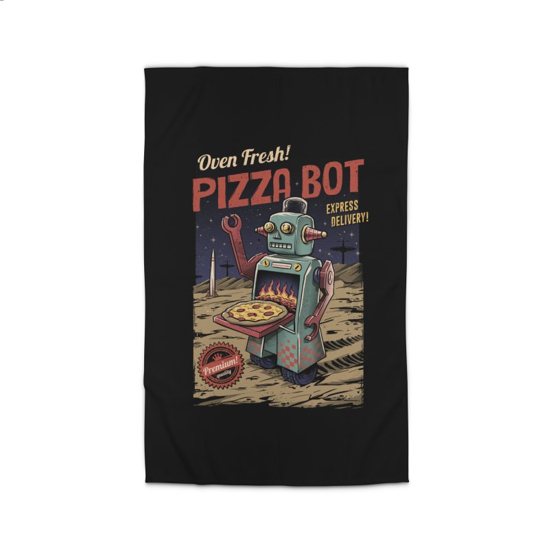 Pizza Bot Home Rug by vincenttrinidad's Artist Shop