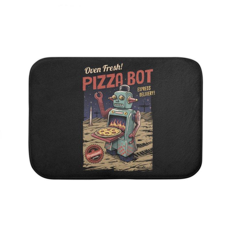 Pizza Bot Home Bath Mat by vincenttrinidad's Artist Shop