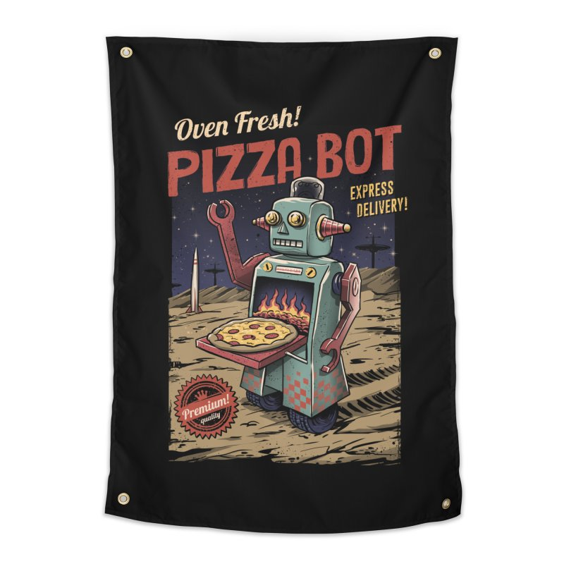 Pizza Bot Home Tapestry by vincenttrinidad's Artist Shop