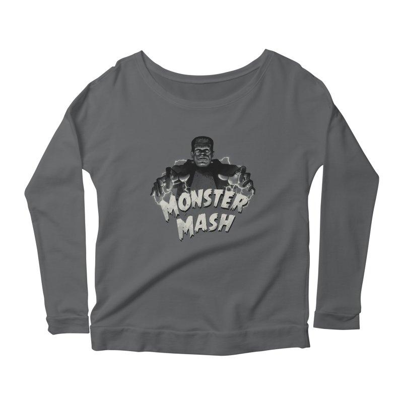 Monster Mash Women's Longsleeve Scoopneck  by vincenttrinidad's Artist Shop