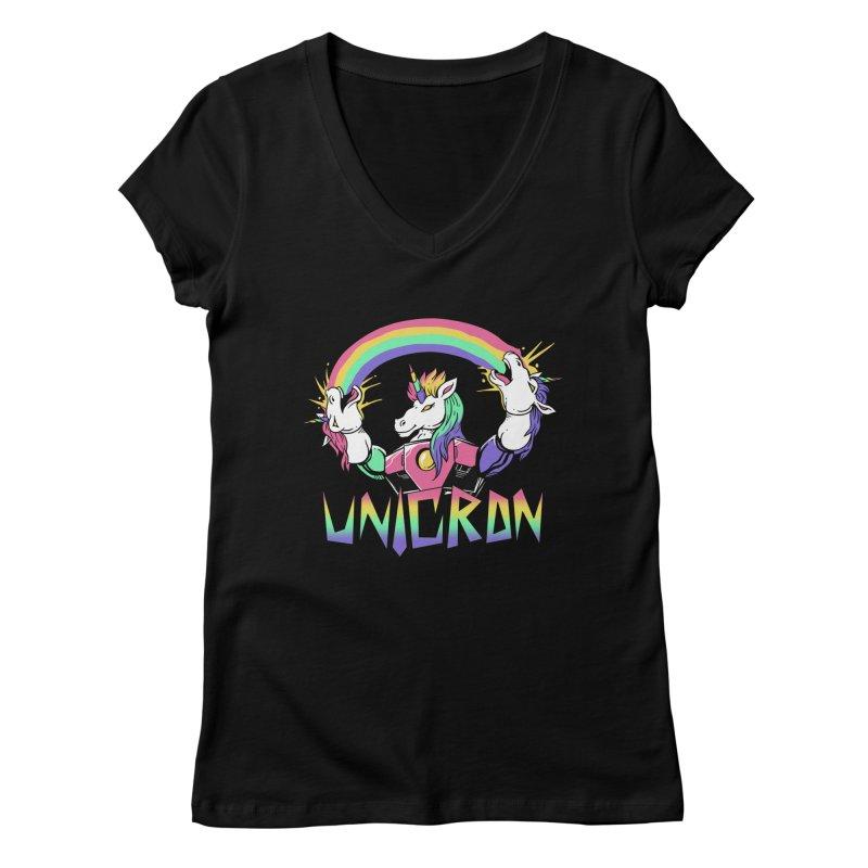 Unicron Women's V-Neck by vincenttrinidad's Artist Shop