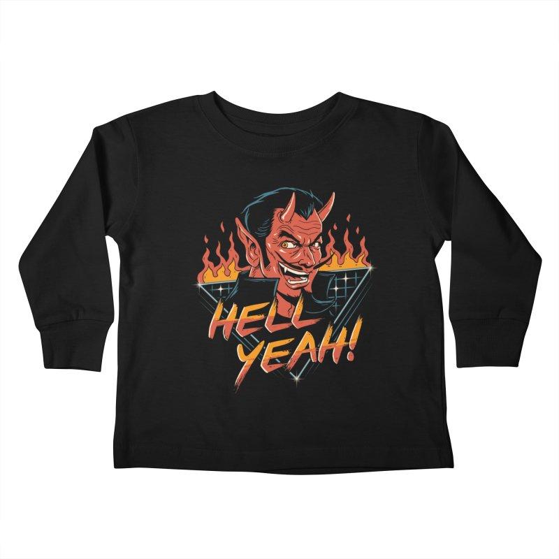 Hell Yeah! Kids Toddler Longsleeve T-Shirt by vincenttrinidad's Artist Shop