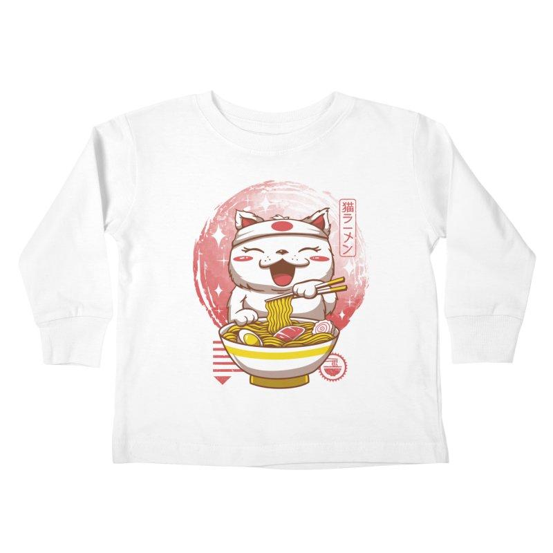 Neko Ramen Kids Toddler Longsleeve T-Shirt by Vincent Trinidad Art