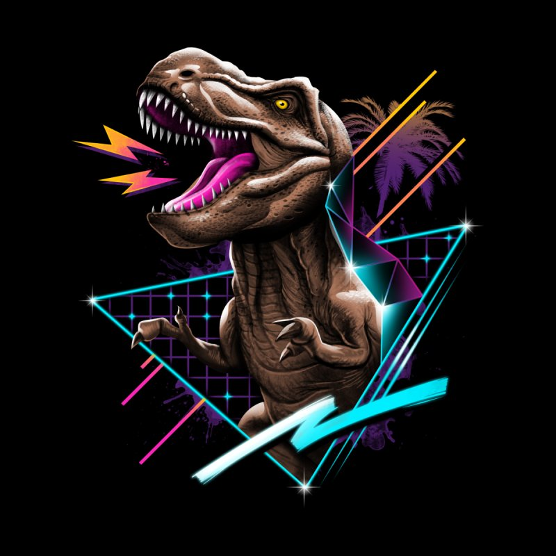 Rad T-Rex Kids Baby Zip-Up Hoody by Vincent Trinidad Art