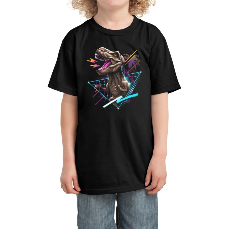 Rad T-Rex Kids T-Shirt by Vincent Trinidad Art