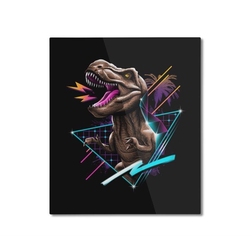 Rad T-Rex Home Mounted Aluminum Print by Vincent Trinidad Art