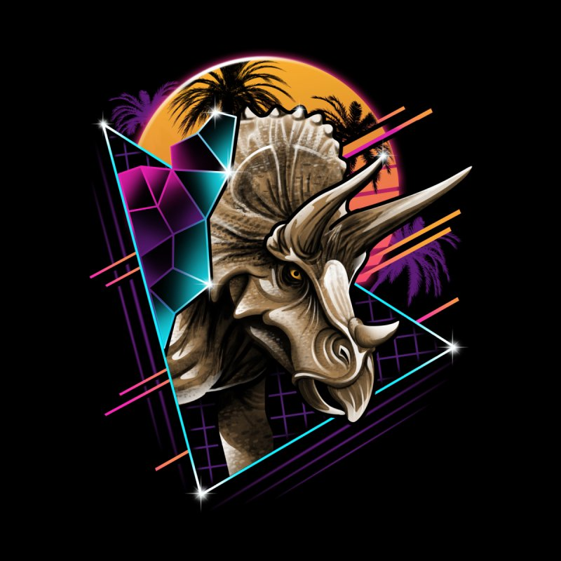 Rad Triceratops Kids Toddler Pullover Hoody by Vincent Trinidad Art
