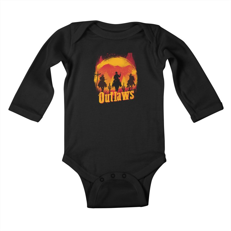 Sunset Outlaws Kids Baby Longsleeve Bodysuit by vincenttrinidad's Artist Shop