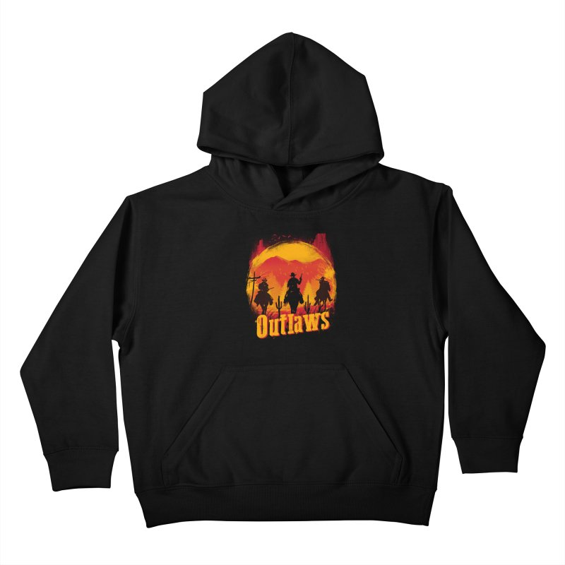 Sunset Outlaws Kids Pullover Hoody by vincenttrinidad's Artist Shop