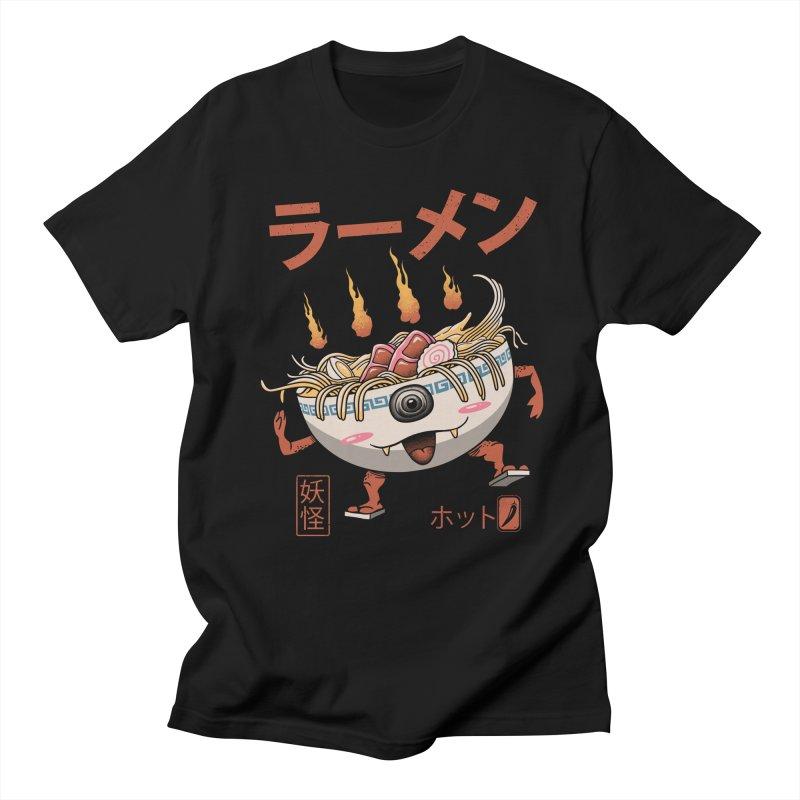 Yokai Ramen in Men's Regular T-Shirt Black by vincenttrinidad's Artist Shop
