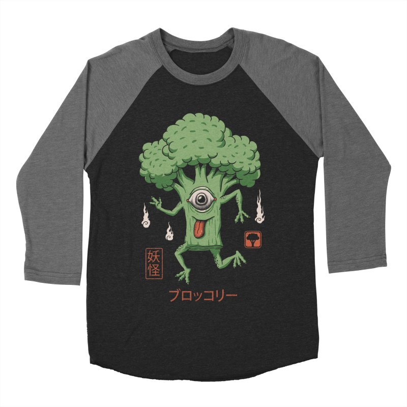 Yokai Broccoli Men's Baseball Triblend T-Shirt by vincenttrinidad's Artist Shop
