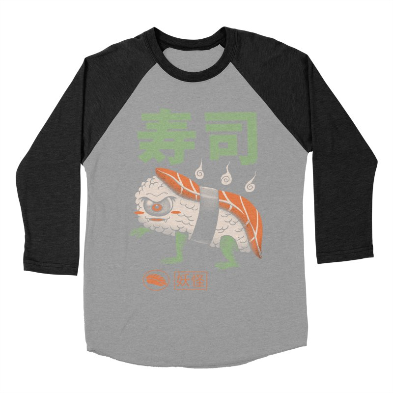 Yokai Sushi Men's Baseball Triblend T-Shirt by vincenttrinidad's Artist Shop